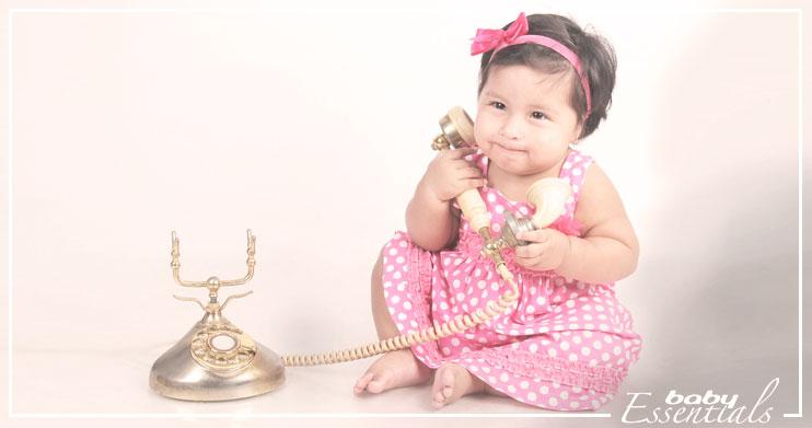 bebé telefono hablar